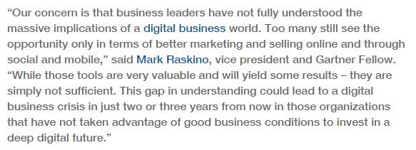 Why Digital World is difficult for CEO's to grasp?
