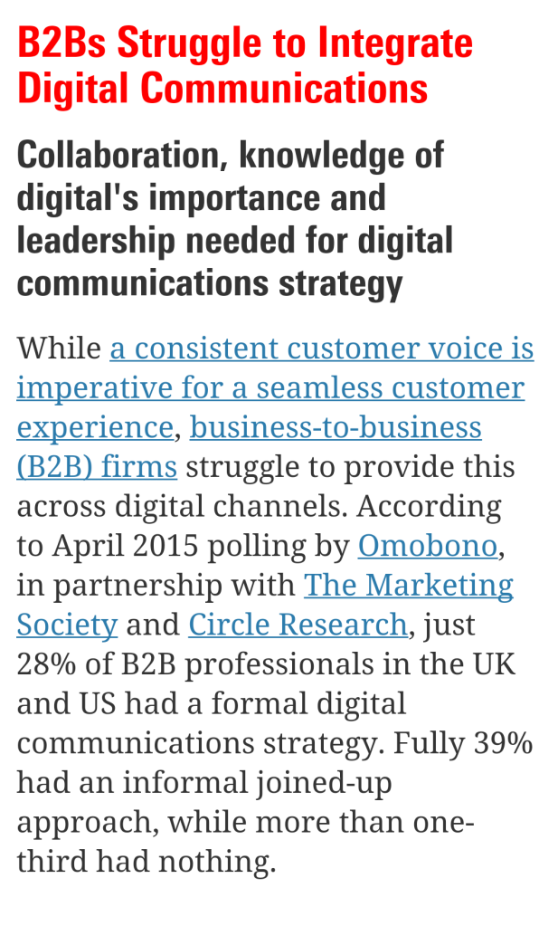 Integrategrating Digital Approach for B2B strategy - Aubrey Owen